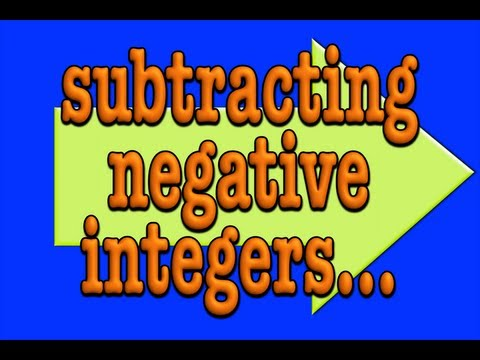 subtracting negative integers! A math song!