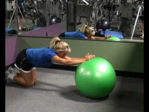 Roll Out on Resistance Ball Side : BeYourTrainer.com