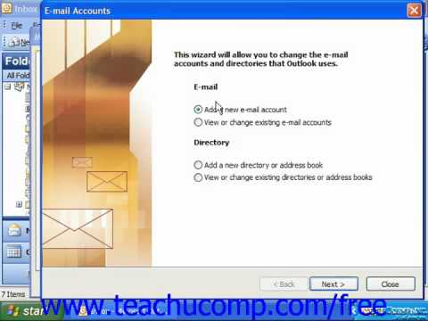 Outlook 2003 Tutorial Adding Additional Profiles 2003 Microsoft Training Lesson 14.4