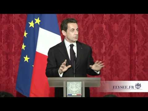 President Nicolas Sarkozy welcomes LeWeb 2011 speakers and honors Geraldine and Loic Le Meur