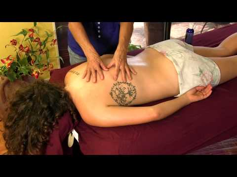 Back Massage Therapy, How to Body Massage With Oil Techniques with Athena Jezik