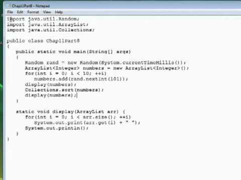 InfiniteSkills Tutorial | Java  - Sorting An Array List | Training Essentials
