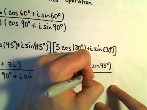 Complex Numbers: Multiplying and Dividing in Polar Form, Ex 2