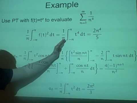 Fourier Series - Parsevals theorem