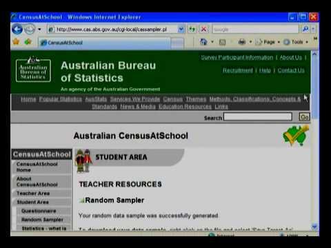 ABS  CensusAtSchool  The Random Sampler