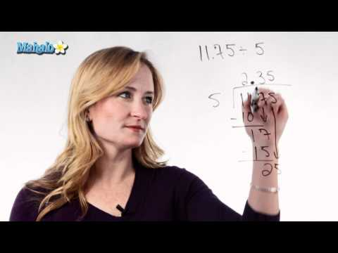 How to Divide Decimals in the Dividend