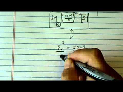 *Log & Exponential Equations: ln (2x+4) = 3 + ln x?