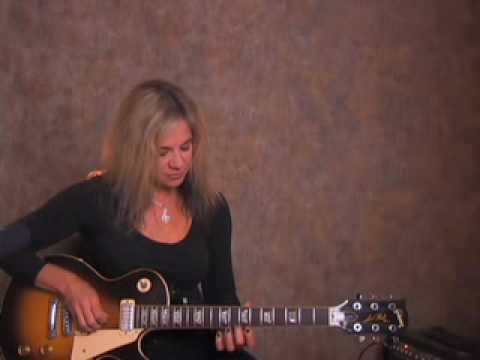 How to play Gibson les paul  electric guitar rock riff