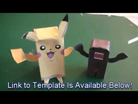 Popular Craft Projects - 007: Paper Pikachu Box Figure (Finger Puppet Pokemon) - TCGames (HD)