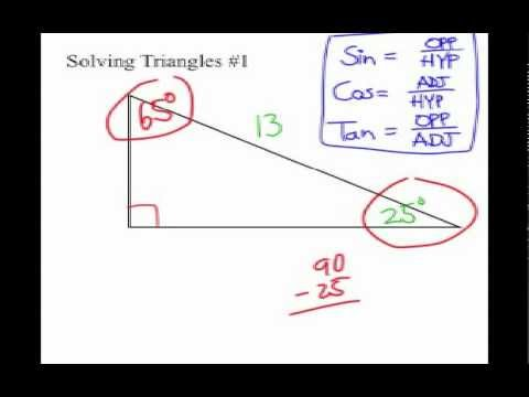 How to Solve Triangles with Trig Functions 6