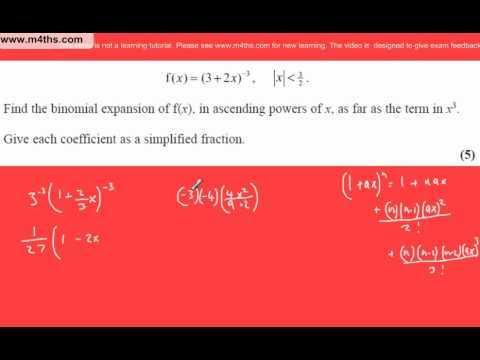 (q1) Core 4 June 2007 Edexcel Past Paper Binomial Expansion