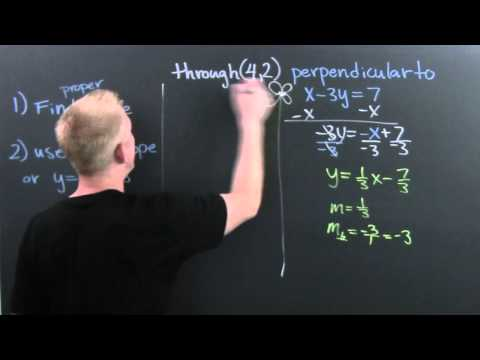 Find the Equation of a Line Given a Slope and Perpendicular to Different Line