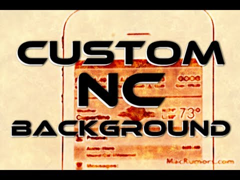 Custom Notification Center Background Wallpapers for iPhone, iPod Touch & iPad