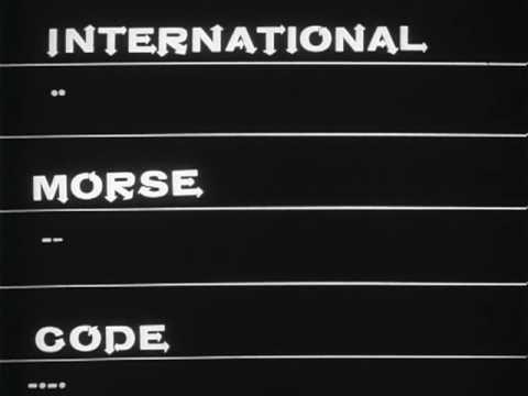 International Morse Code, Hand Sending