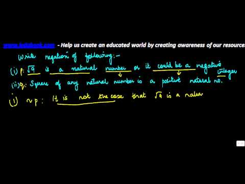 734.Negation of Mathematical statements   Problem thereon
