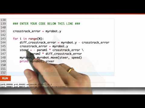 Pd Controller Solution - CS373 Unit 5 - Udacity
