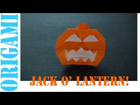 Origami Daily - 421: Jack O' Lantern (Halloween) - TCGames [HD]