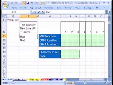 YTL Excel #121: CHAR & CODE & MID functions