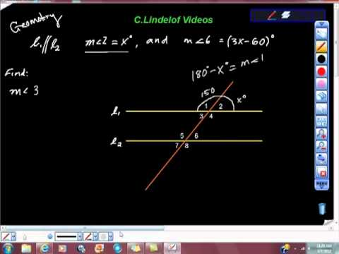 Geometry Corresponding Angles and Vertical Angles Theorem