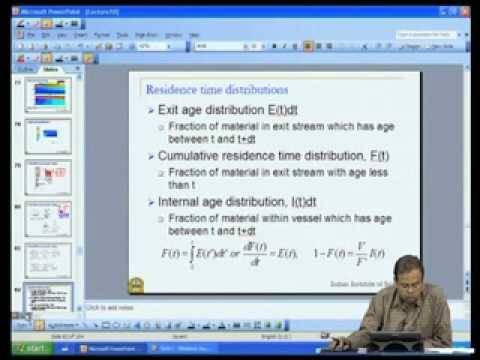 Mod-05 Lec-38 Nonideal flow and reactor performance