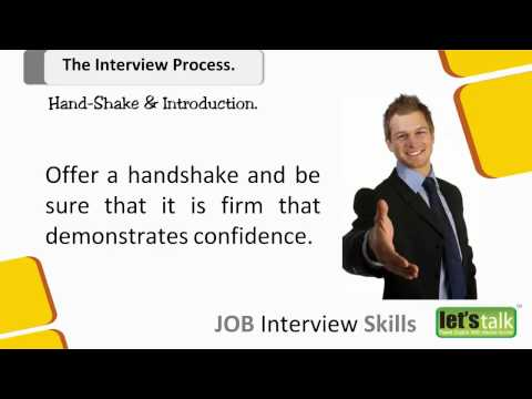 Job Interview skills Training  -  Part 4.1 Hand Shake in an Interview