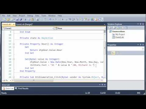 Visual Basic Tutorial - 66 - More On Properties