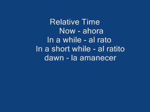 Spanish- Days of the Week and Relative Time.wmv