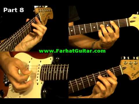 Money Pink Floyd Guitar Cover Part  8  www.farhatguitar.com