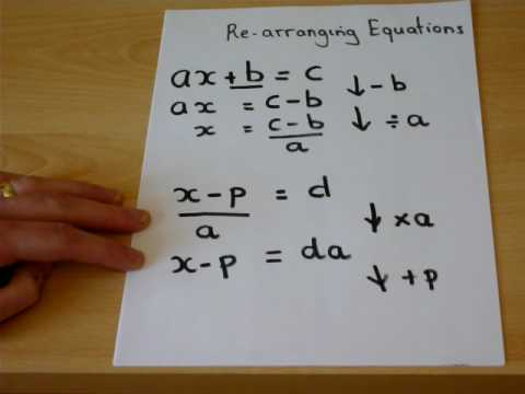 GCSE Maths revision guide - rearranging equations