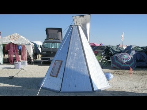 A foam board tipi shelter