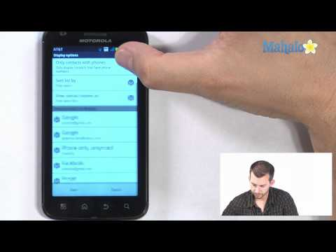 Using Contacts on your Android Phone