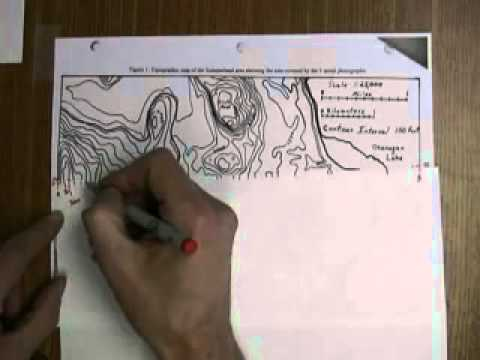 Topographic Map Profiles - Part 1.flv