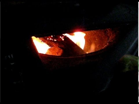 Using my camper fireplace on a cold autumn night. So cozy.