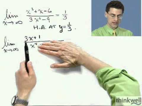 Horizontal Asymptotes and Infinite Limits, Part 2 of 2, from Thinkwell's Calculus Video Course