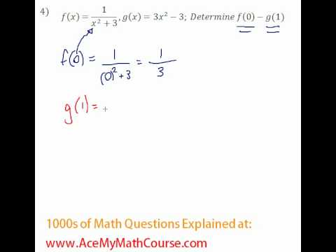 Functions - Function Operations Question #4