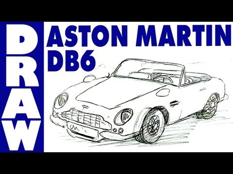 How to draw an Aston Martin DB6 Volante - realtime tutorial