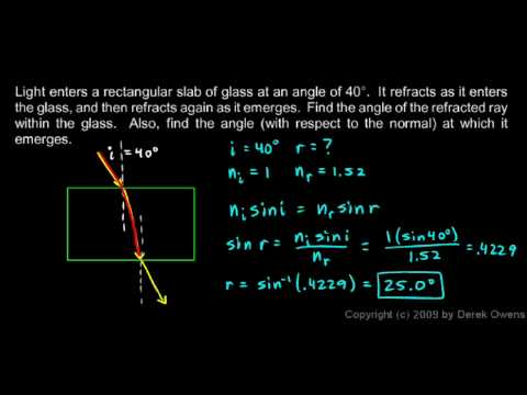 Physics 11.2.3c - Snell's Law, Another Example