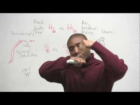 How to pronounce TH, S, F sounds in English