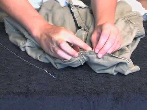 How to Mend a Hole in the Crotch of Pants