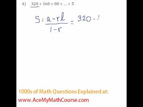 Geometric Series - Find the Sum (Intermediate Question) #4