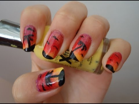 Ombre Sunset Island Nail Tutorial