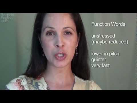 Function Words - American English Pronunciation + Intonation/Word Stress
