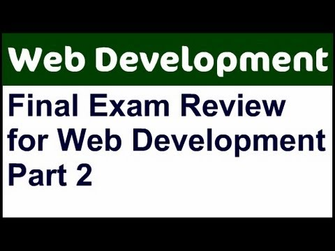 CIS 195 Final Exam Review - Part 2