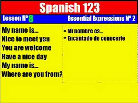 Spanish Lesson 8. Essential Expressions Nº 2