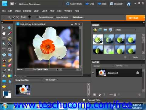 Photoshop Elements 9.0 Tutorial Selection Basics Adobe Training Lesson 8.1