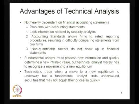 Mod-01 Lec-19 Technical Analysis - I