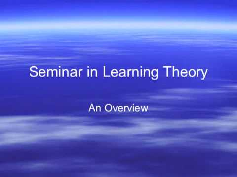 Seminar in Learning Theory overview2
