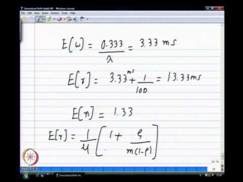 Mod-01 Lec-14 Queuing theory-III
