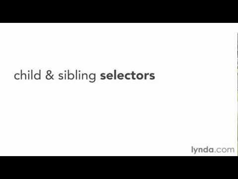 CSS3: Child and sibling selectors | lynda.com overview