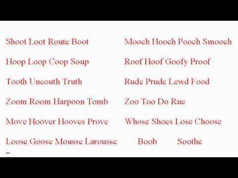 uː - Examples of the uː sound as in boot  - ESL British English Pronunciation